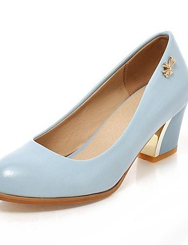 GGX/Damen Schuhe PU Sommer/Herbst Heels/Schuhe Heels Office & Karriere/Casual geschoben Ferse andere schwarz/blau/ white-us6.5-7 / eu37 / uk4.5-5 / cn37