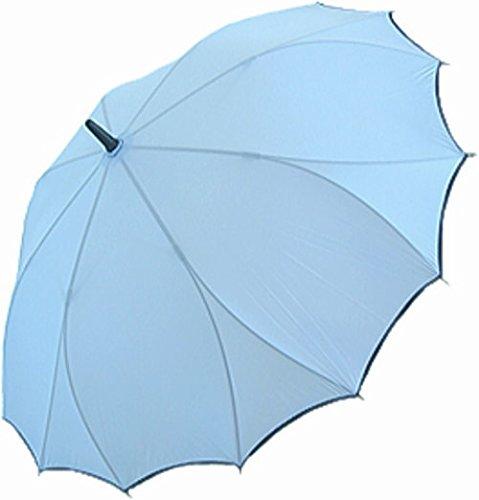 傘レディース折れにくい雨傘(スカイブルー(02))