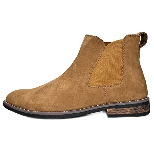 Bruno Marc Men's Urban-06 Tan Suede Leather Chukka Ankle Boots