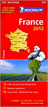 France 2012 NATIONAL Map (Michelin National Maps)