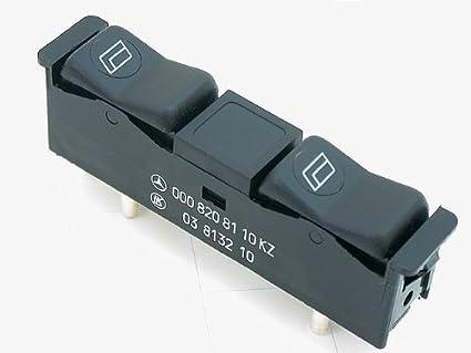 Mercedes W123 W126 W201 ventana doble interruptor en consola derecho sin seguridad