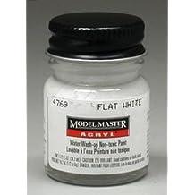 Flat White Testors Acrylic Plastic Model Paint