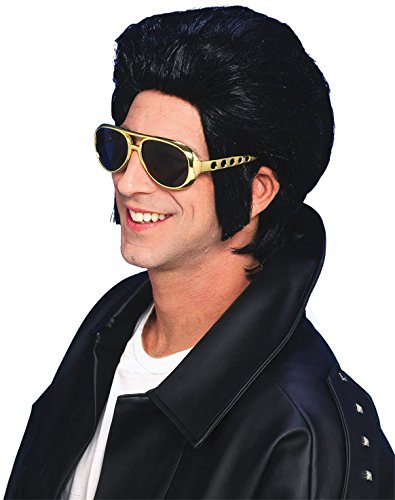 Forum Novelties Men's 1950's Costume Greaser Wig, Black,