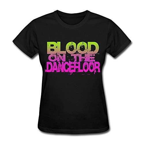 JIAYUHUA Women's Blood On The Dance Floor Logo T-shirt S Black