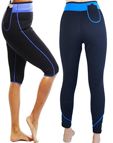 SISYAMA Anti Cellulite Weight Loss Hot Slimming Sweat Sauna NEOPRENE Capris Pants (X-Large)