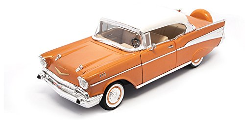 - 1957 Chevy Bel Air, Golden Brown - Lucky 92109 - 1/18 Scale Diecast Model Toy Car