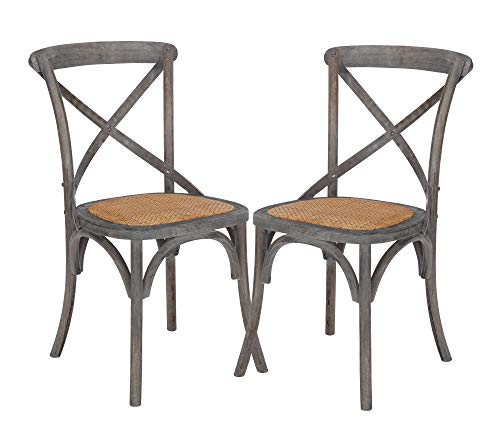 Poly and Bark Cafton Crossback Chair in Ash Gray (Set of 2) (Chairs Vintage Wicker)