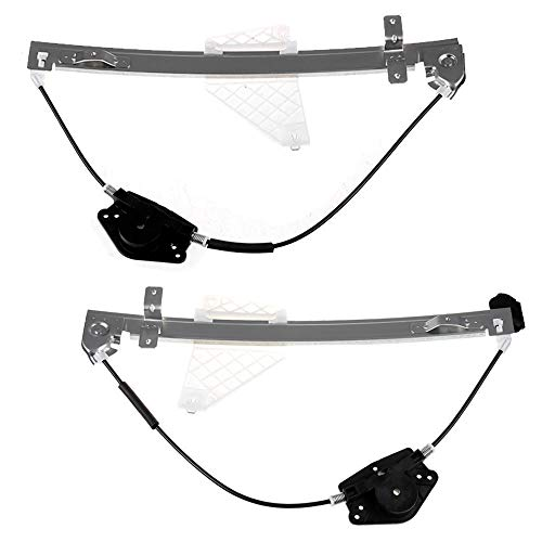 Power Window Regulator Without Motor Assembly Replacement Rear Side a Pair Set Window Regulator fit for 2001-2004 Jeep Grand Cherokee (for Use w/32 Tooth Motor ()