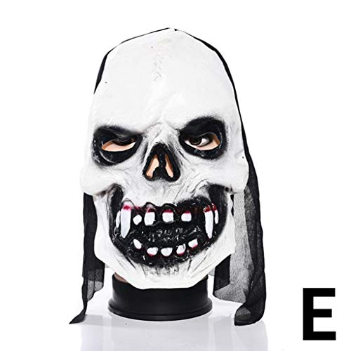 SKSNBMJ Halloween Mask Latex Man Haunted House Dress Up Prom Room Escapes Horror Zombie Mask 6,E]()
