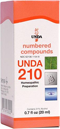 UNDA - UNDA 210 Numbered Compounds - Homeopathic Preparation - 0.7 fl oz (20 - Single 210