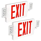 Hykolity Red Exit Sign, 120-277V Double Face LED