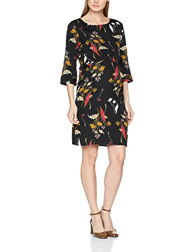 MAMALICIOUS Mlshania June 3/4 Woven Dress Nf, Vestido Premamá para Mujer Multicolor (Black Aop:black/dry Rose/chinese Yellow/sea Mist)