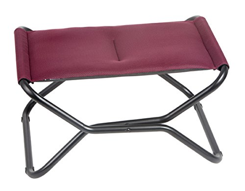 Lafuma Next Air Comfort - Folding Footrest - Bordeaux Air Comfort Fabric - Indoor or Outdoor Footstool or Footrest