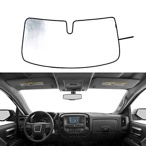 Windshield Sunshade UV Ray Reflector for 2014-2018 GMC Sierra 1500 2500 HD 3500 HD Front Window Sun Shade Visor Shield Cover, Keeps Truck - Windshield 2500 Truck