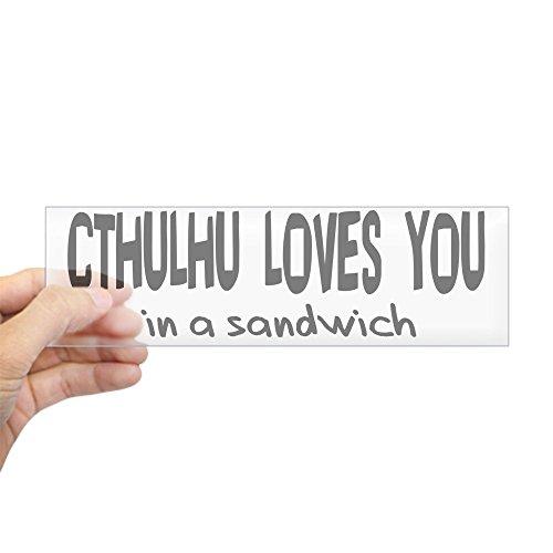 CafePress Cthulhu Loves You Bumper Sticker 10
