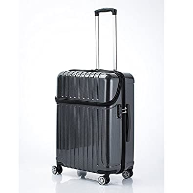 d1d67e7de434ab Amazon | アクタス トップオープン ジッパーハード 59L スーツケース 74-20321 ブラックカーボン [並行輸入品] | スーツケース