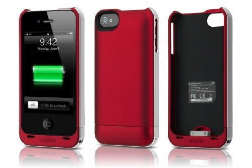new arrivals 51e09 60341 mophie juice pack Air for iPhone 4/4s - Red
