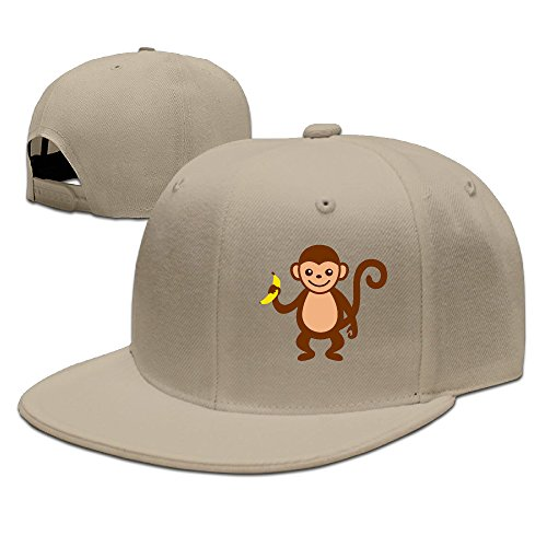 SSEE Unisex-Adult Lovely Monkey And Banana Adjustable Hiphop Caps Natural (Karaoke Machine For Iphone 5c)