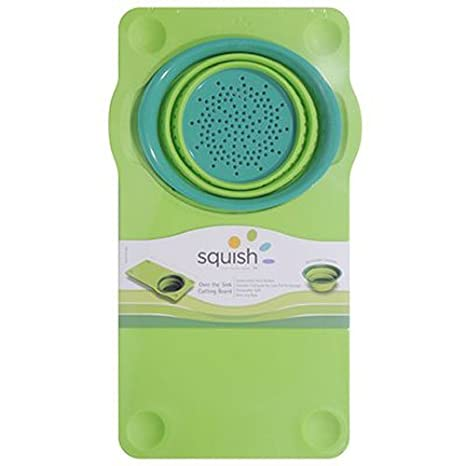 Superbe Squish Over The Sink Cutting Board, Green