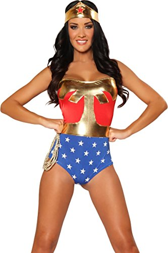 3WISHES 'American Hero Costume' Sexy Superhero Costume Woman