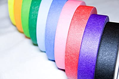 Stickies Colorful Masking Tape (10 Pack Roll) 1'' x 70 Yards - Great for Scrapbooking, Arts, Crafts, Classrooms, Teachers, Dispensers, School & Office Supplies, Projects, Decorative Rainbows & labels