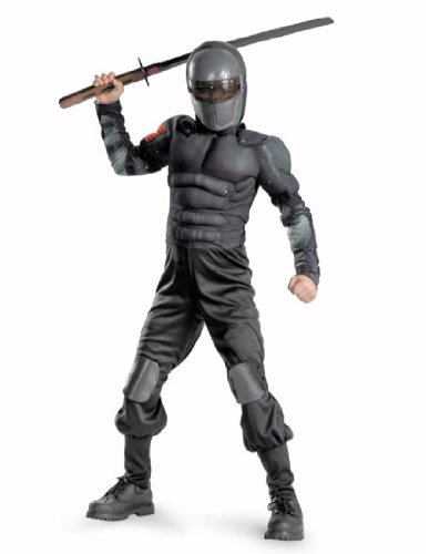 G.i. Joe Retaliation Snake Eyes Classic Muscle Costume, Black, Medium (Muscle Arms Halloween Costume)