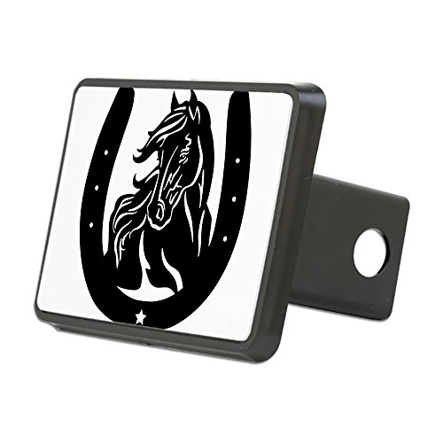 CafePress - Horse Head & Horseshoe Hitch Cover - Trailer Hitch Cover, Truck Receiver Hitch Plug Insert