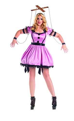 Sock Puppet Halloween Costume (Party King Women's Plus Size Marionette Plus Size, Pink,)