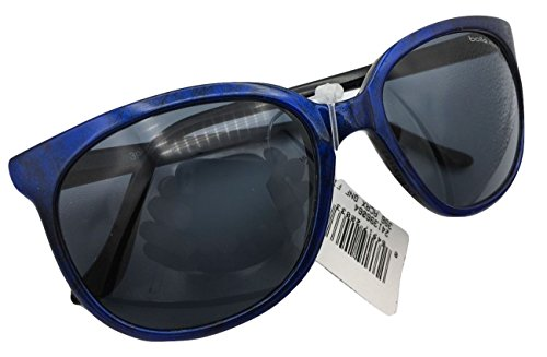 NEW Vintage Bolle 396 Sunglasses Blue w/ Black Acrylex Gray Lenses France - Discount Bolle Sunglasses