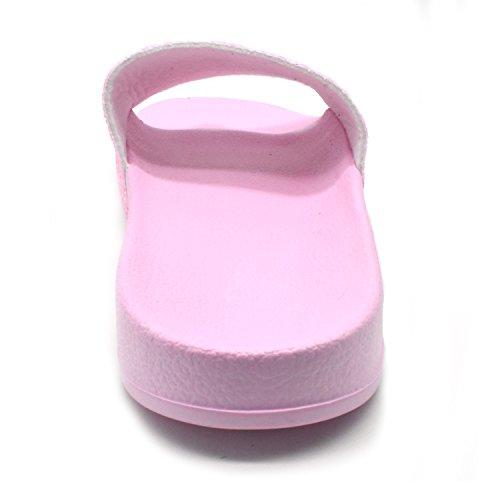Coface Pelliccia Piatti Sandali Slide Con Sintetica Da Rosa Glitter Eva Donna Caldo Ciabatte Soft Soffice gxnEBx1