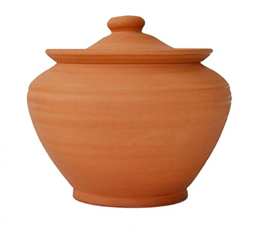 Handmade Small 17oz Ceramic Cooking Pot Red Clay Kitchen Artisan Cookware