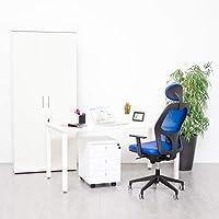Mesa Escritorio Oficina Blanca de Madera Grande Resistente para ...