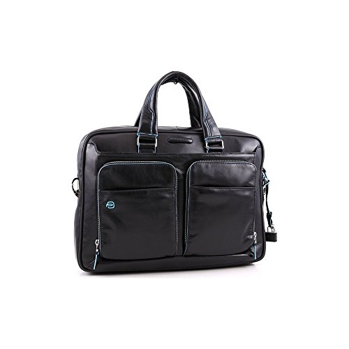 Piquadro Portfolio Computer Briefcase with iPad Compartment, Black, One Size by Piquadro