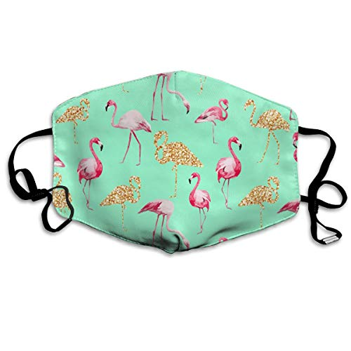 Retro Flamingo Pattern Unisex Face Mouth Mask Ear-loop Dust Protecting Mask Cycling Reusable Mask