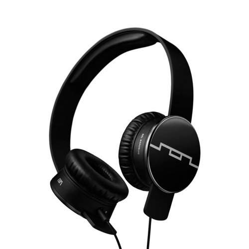 SOL REPUBLIC Tracks On-Ear Headphones -M4DE - Onyx - Single-Button (Tracks V8 Republic Sol Headphones)