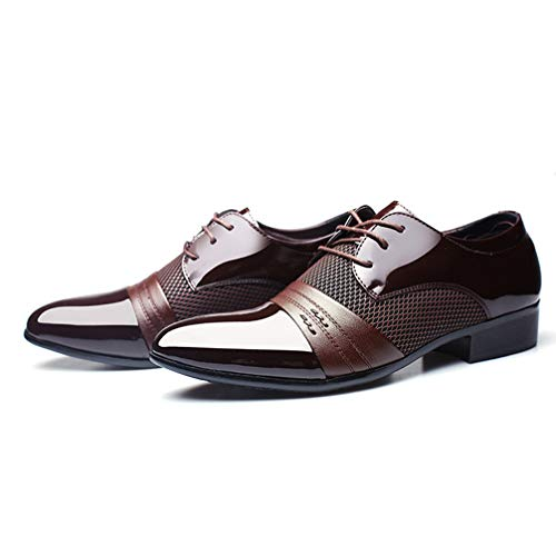 Mens Business Dress Shoes Pointed Toe Lace up Comfortable Oxford Sheos by Phil Betty (Image #3)