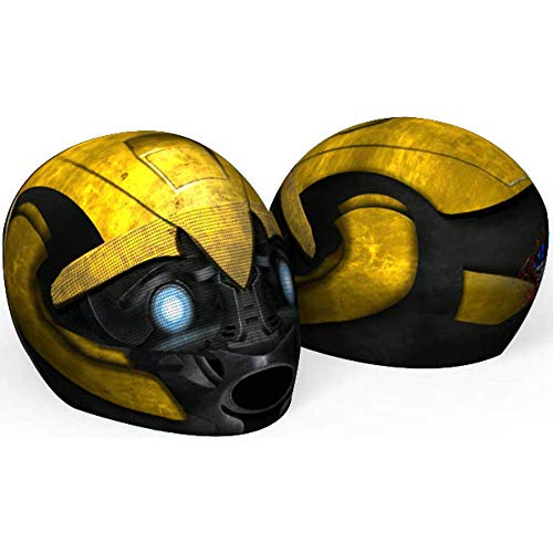 Bumblebee Motorcycle Helmet Cover AND Visor Sticker Decal Transformers (Yellow Motorcycle Helmet)