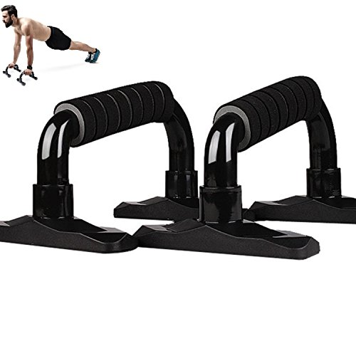 Pushup Stands, Push Up Bars for Strength Training, Black, Gym Home Work Out