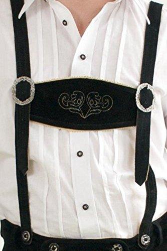 Klassische Trachten Leder Hosenträger für Trachten Lederhose in schwarz, mittelbraun oder dunkelbraun