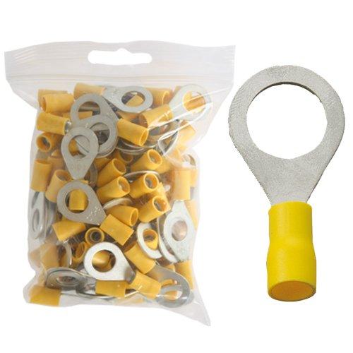 100 isol. Ringkabelschuhe gelb M10 4, 0 bis 6, 0 mm² K24 - Kabelschuh