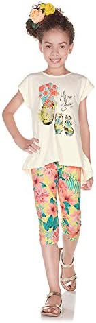 [Sponsored] Pulla Bulla Little Girl Floral Set Shirt and Leggings Outfit