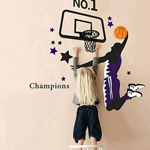 Dunk Premium - Potelin Premium Quality Basketball Dunk Sports Vinyl Decal Art Wall Sticker DIY Home Room Decoration