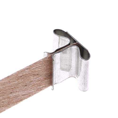 Home Decoration Craft,Candle Wood Wick with Sustainer Tab Candle Making Supply 10Pcs by Tebatu (Image #8)