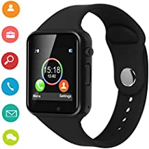 Smart Watches,IOQSOF Touchscreen Bluetooth Smart Watch with Camera,Android Smartwatch,Waterproof Smart Watches Compatible Samsung iOS iPhone X 8 7 6 6S Plus 5 Men Women