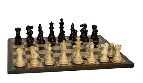 WorldWise Wooden Chess Set with Lardy Classic/Black Birdseye Maple Board