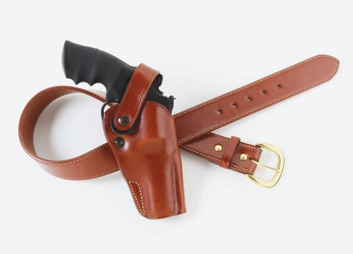 Galco Dual Action Outdoorsman Holster for S&W L FR 686 4-Inch (Tan, Right-Hand)
