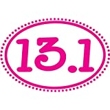 13.1 Dots Oval Magnet - Pink