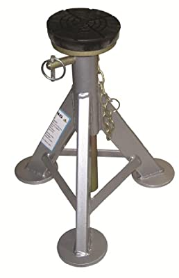 AME 14980 Flat Top Jack Stand with Rubber Cushion (3 Ton 1 Pair)