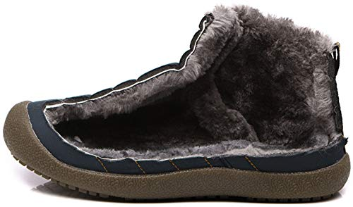 Grey Mens Faux Non Winter Slip Lined Warm Boots katliu Casual Fur Lightweight Womens Ankle Outdoor Shoes pqZBn05w