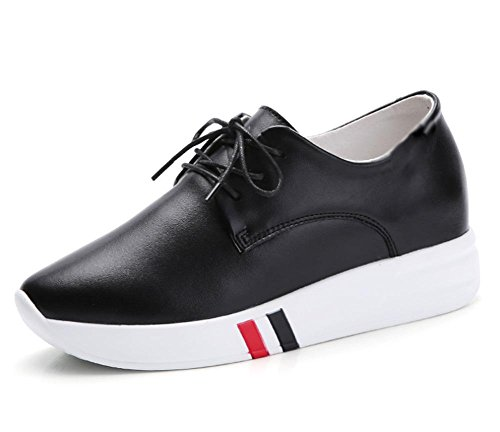 Spring and summer ladies increased shoes thick bottom muffins shoes sports and leisure women's shoes lace shoes , US6.5-7 / EU37 / UK4.5-5 / CN37